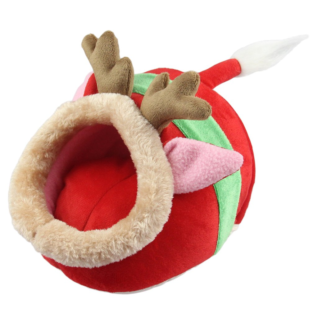 Jili Online Small Pet Nest Hamster Reindeer Bed Hammock Rat Hedgehog Squirrel Cat Dog Sleeping House Toy Chinchilla Cage S/L - L
