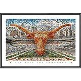 NCAA Mosaics Graphic Art Size: 24'' x 36'', NCAA Team: Texas - On The Field