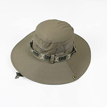 242cf7e7 Image Unavailable. Image not available for. Color: CJC Bucket Hats Sun Hat  Unise Sun UV Protection Bucket Outdoor Wide Brim Breathable Chin Strap