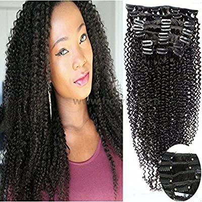 Amazon.com: 12 inch-26inch 100% cabello humano Afro Virgen ...