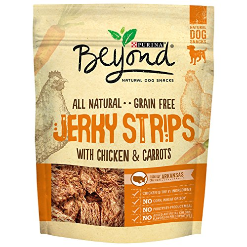 Purina Beyond Natural Dog Snack, Jerky Strips with Chicken &