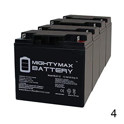 Mighty Max Battery 12V 22AH SLA Battery for X-Treme XB-610 Electric Bicycle - 4 Pack Brand Product : Sports & Outdoors