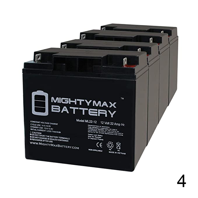Mighty Max Battery 12V 22Ah Baoshi 6-DZM-20 6DZM20 Scooter Bike Sealed on