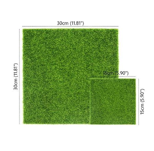 Milopon Mini Ornamento Musgo Hierba Artificial Decoración para Maceta Acuario Jardín Patio 15 * 15cm: Amazon.es: Hogar