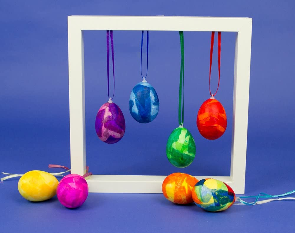 10 Polystyrene 3.5cm Eggs to Decorate Easter Styrofoam Shapes
