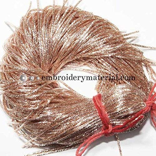 French Bullion Wire(Nakshi), Rose Gold Color, 1MM, 22.29 Mtr(50 Gram) (Wire French Bullion)