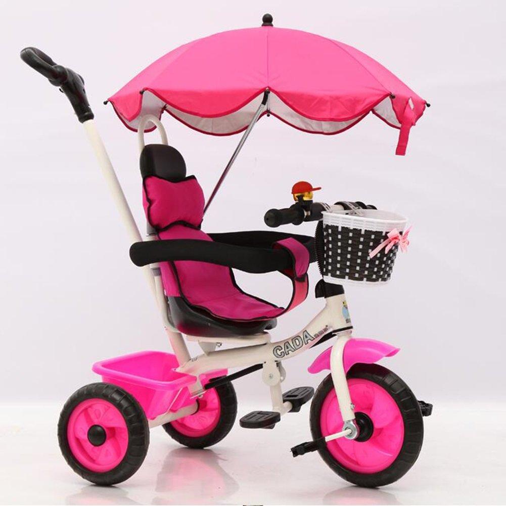 XQ 子供 軽量 EVA発泡ホイール 三輪車 1-3-5歳 赤ちゃん トロリー 子ども用自転車 ( 色 : ローズレッド ) B07C6QLDKM ローズレッド ローズレッド