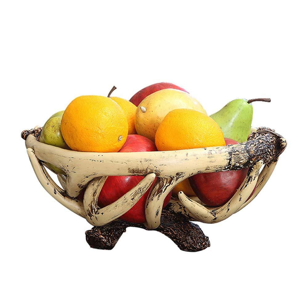 フルーツバスケット、リビングルームの樹脂の果物のボウル、スナック収納ボックス、装飾的な装飾品   B07QVY2X4F