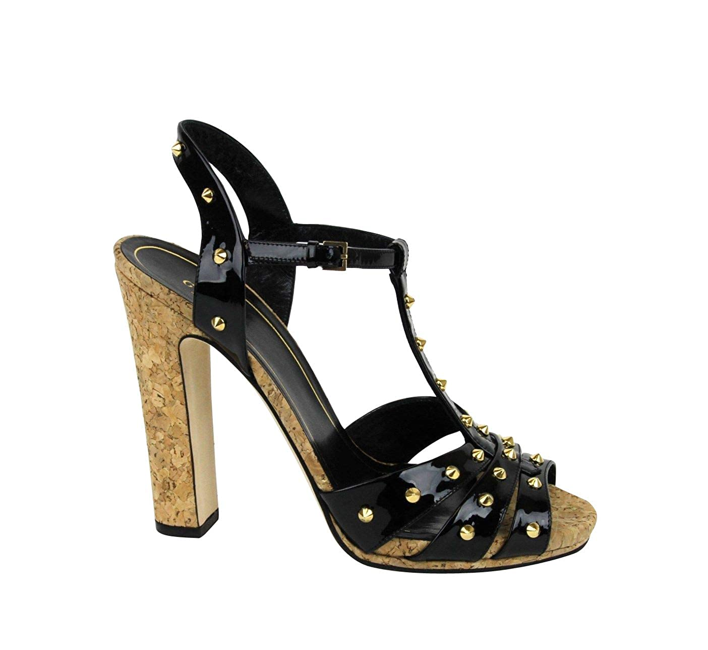 bf9bdfc9aa21 Amazon.com  Gucci Women s Black Jacquelyne Studs Patent Leather Platform  Sandal 310349 1000 (G 38.5   US 8.5)  Shoes