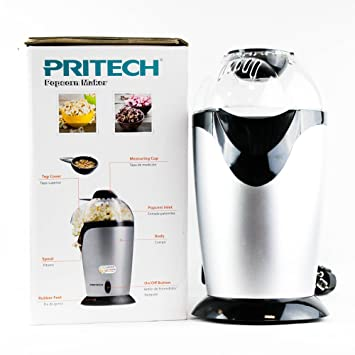 Máquina de hacer palomitas palomitero eléctrico de alta calidad de color de plata del hogar y función rápida: Amazon.es