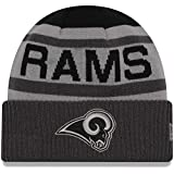 New Era Black/Graphite Los Angeles Rams Alternate Biggest Fan 2.0 Cuffed Knit Hat