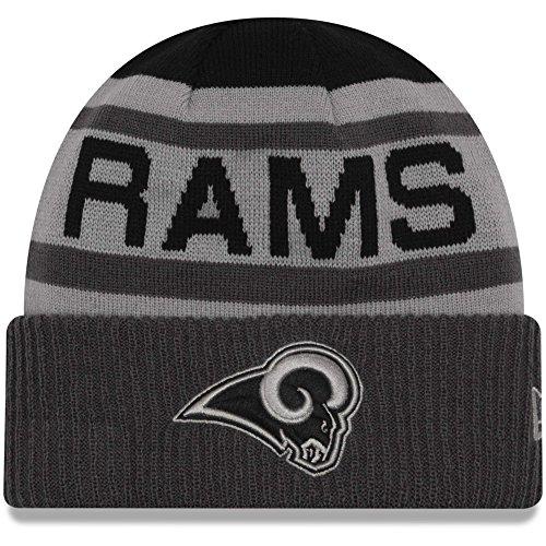 New Era Black/Graphite Los Angeles Rams Alternate Biggest Fan 2.0 Cuffed Knit Hat by New Era