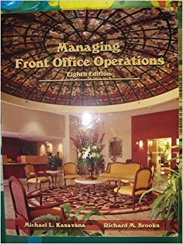 Book Managing Front Office Operations by Michael L. Kasavana (2009-05-01)