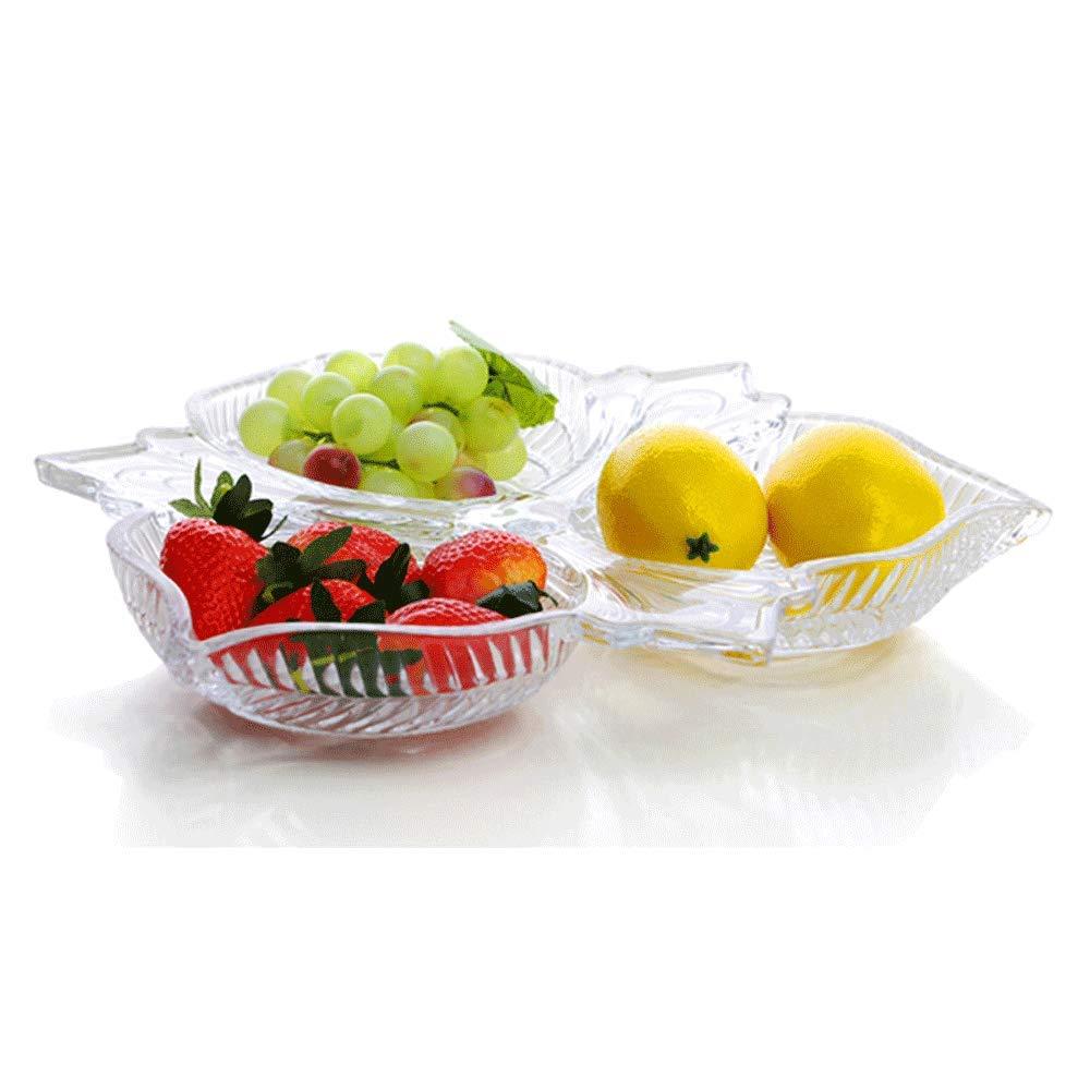 ヨーロッパの分割ガラスフルーツプレート創造的な多機能大容量貯蔵リビングルームキャンディスナック乾燥フルーツプレートパーソナライズフルーツプレート   B07K7ZVCMD