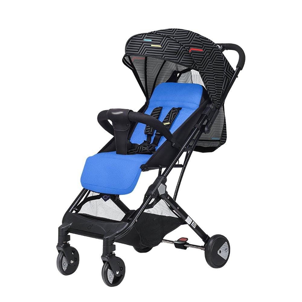 赤ちゃんのベビーカーレインカバー背もたれ高背景の折り畳み式可変トロリー赤ちゃんキャリッジ360度四輪車のショックアブソーバの観光に座ることができる26 * 44 * 100cmを運ぶことができる (色 : D)  D B07H88LZY8