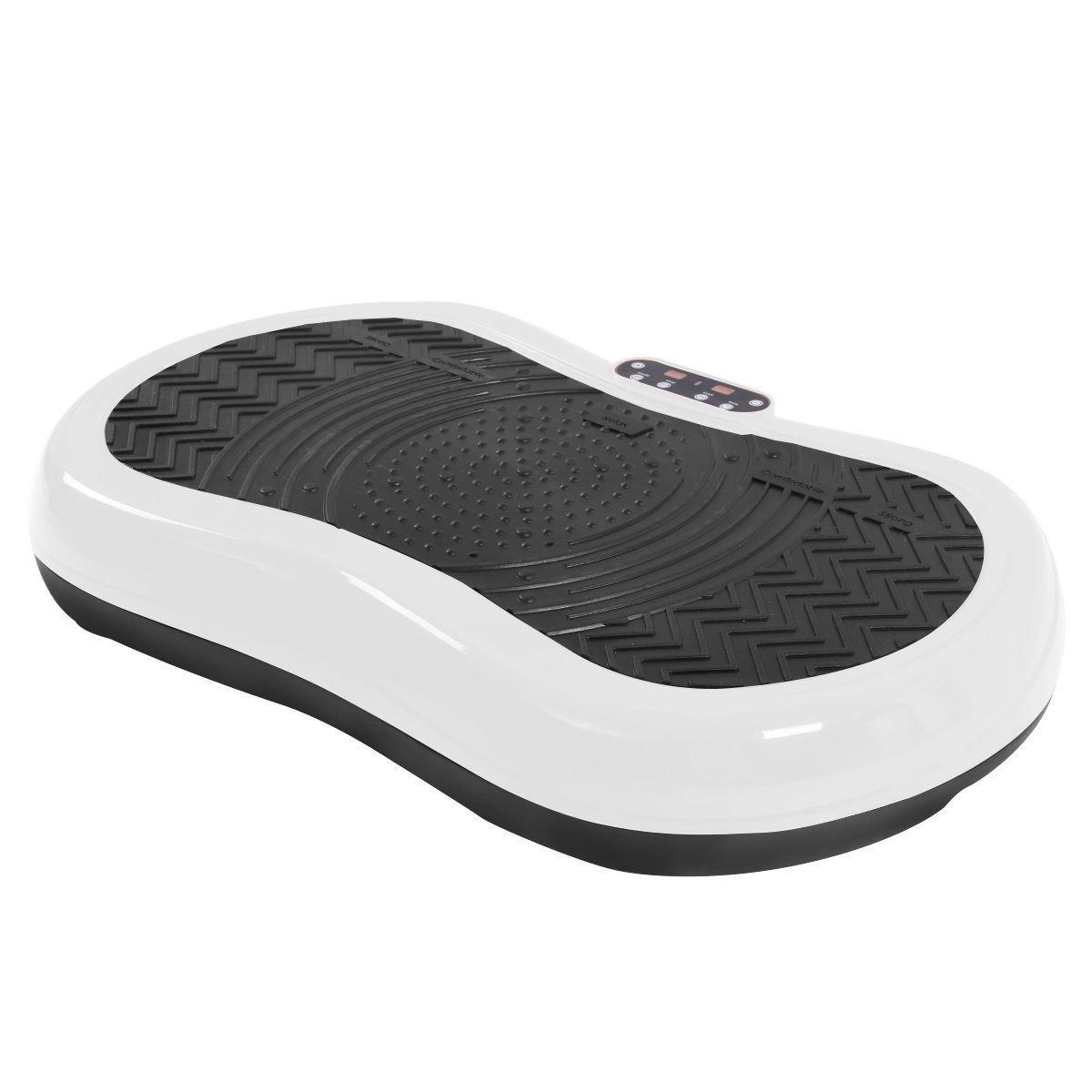 Tangkula Ultrathin Mini Crazy Fit Vibration Platform Massage Machine Fitness Gym (White)