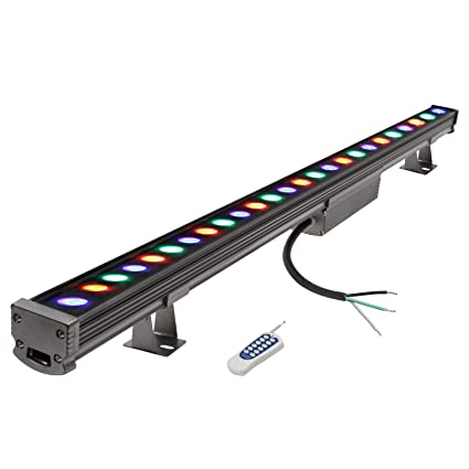 sale retailer 6d572 5f4a3 18W LED Wall Washer RGB Multicolor Linear Strip Bar Stage Lighting 38.9  Inch Remote Controlled IP65 Waterproof Aluminum Metal Case Church  Restaurant ...
