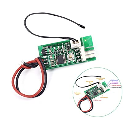 Enjoyable Amazon Com Dc 12V Pwm Temperature Controller Fan Controller 4 Wire Wiring Cloud Hisonuggs Outletorg