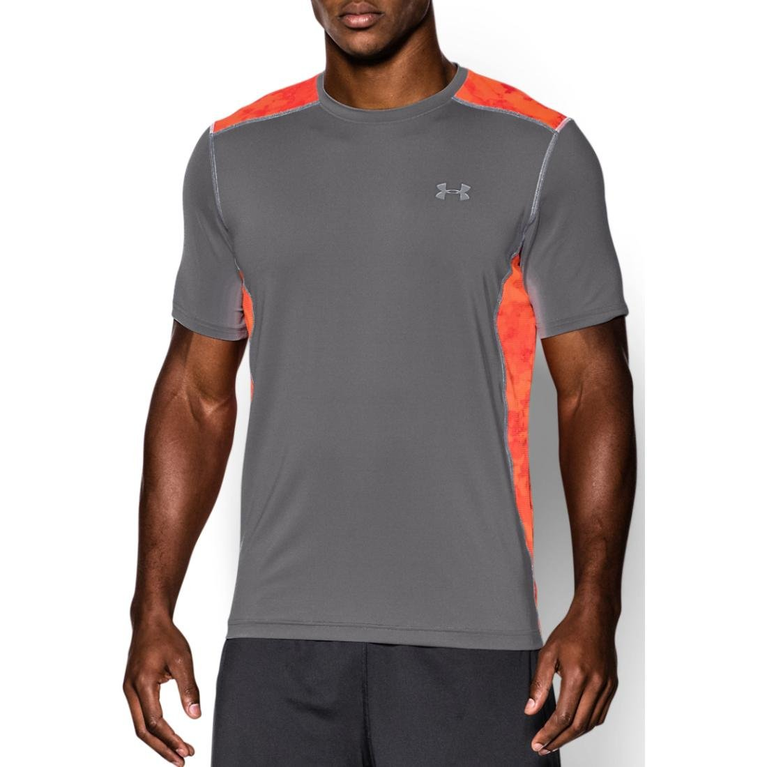 (アンダーアーマー) UNDER ARMOUR ヒットヒートギアSS(トレーニング/Tシャツ/MEN)[1257466] B00KXAFYJE Large|Graphite/Bolt Orange Graphite/Bolt Orange Large