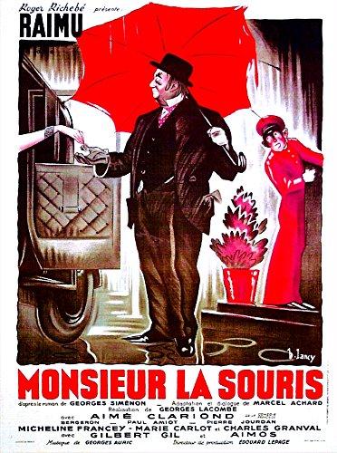 (Posterazzi Midnight in Paris French (Aka Monsieur La Souris) Raimu 1942 Movie Masterprint Poster Print, (24 x 36))