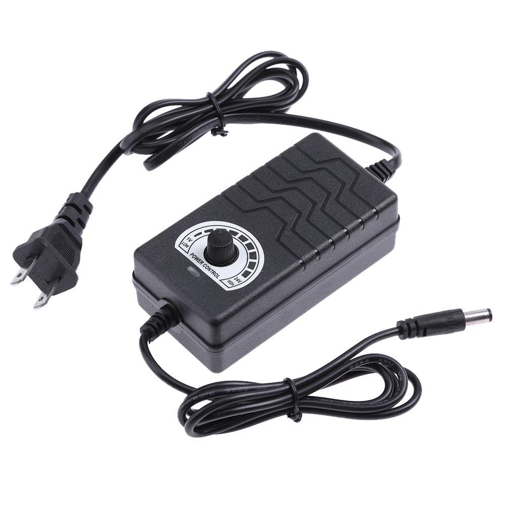 Easydeal AC to DC Adapter 1-24V 2A Adjustable Power Supply Motor Speed Controller US