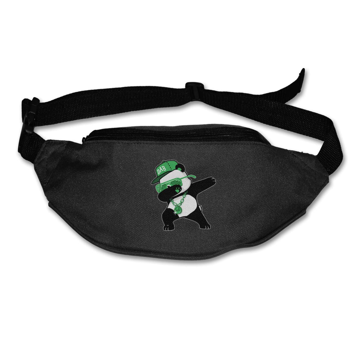 Dabbing Panda Necklace Sport Waist Bag Fanny Pack Adjustable For Hike