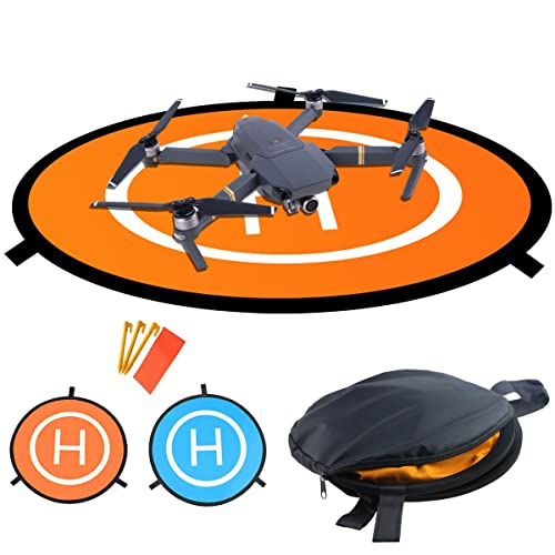 Drones Landing Padïœhomga Universal Waterproof D 75Cm 30 Portable Foldable Landing Pads For Rc Drones Helicopter Pvb Drones Dji Mavic Pro Phantom 2 3 4 Pro Antel Robotic 3Dr Solo And More