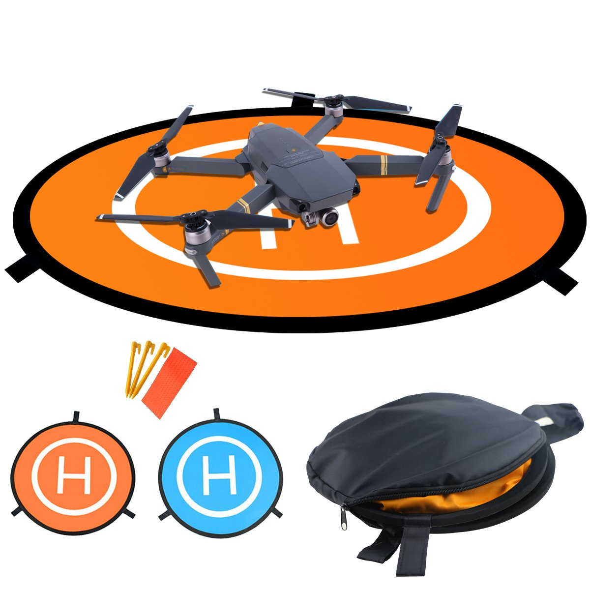 Drones Landing Pad,Homga Universal Waterproof D 75cm/30'' Portable Foldable Landing Pads For RC Drones Helicopter, PVB Drones, DJI Mavic Pro Phantom 2/3/4/ Pro, Antel Robotic, 3DR Solo & More