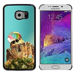 TopCaseStore / la caja del caucho duro de la cubierta de protección de la piel - Cute Spider Waterdrop - Samsung Galaxy S6 EDGE SM-G925