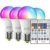 4Pack Lâmpada LED inteligente WiFi xuelili, três métodos de controle, aplicar à base E26 / E27, 10W, 2700K-6500K, 110V, lâmpa