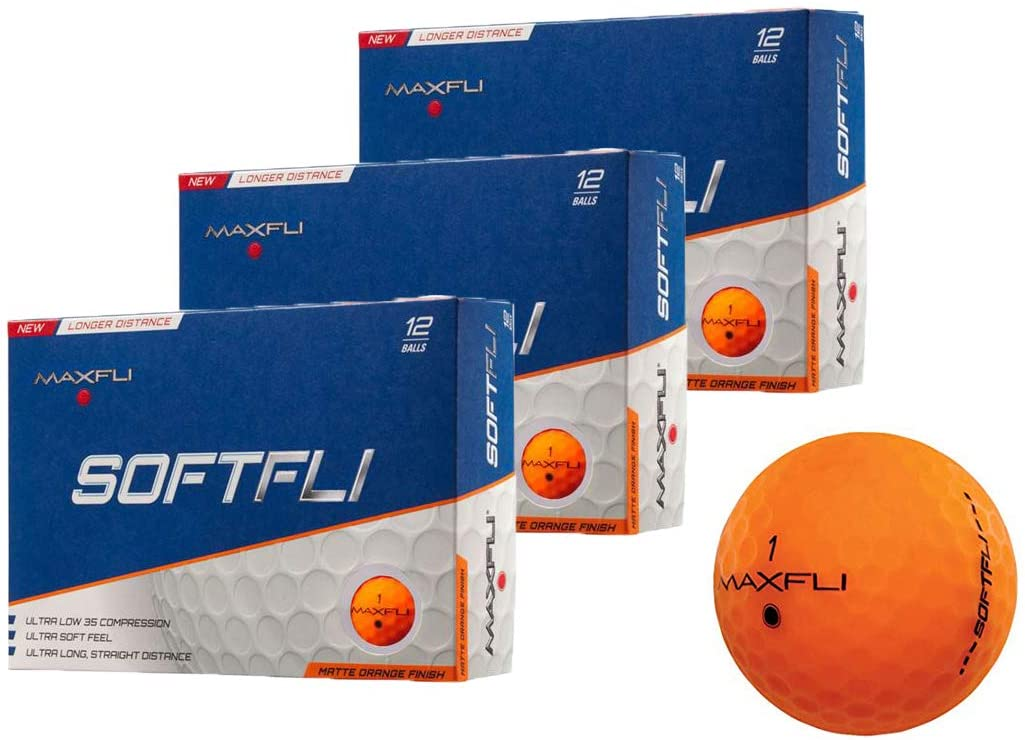 Maxfli SoftFli Matte Golf Balls - Longer Straight Distance - Soft Feel