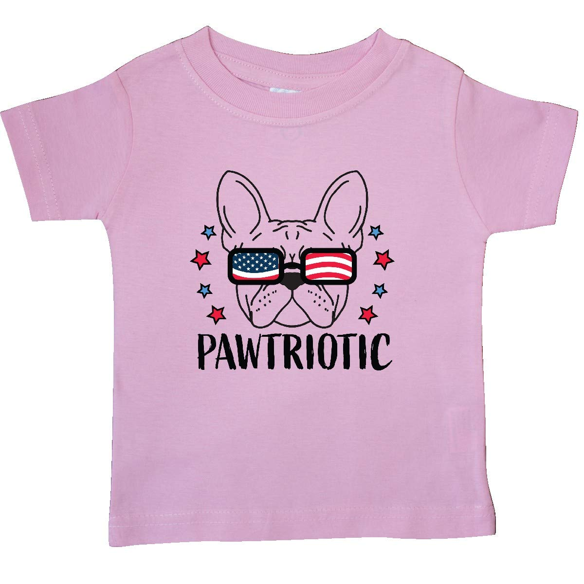 inktastic Pawtriotic with Dog in American Flag Sunglasses Baby T-Shirt