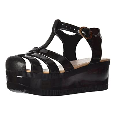 Women's Retro Jelly Gladiator Sandals Chunky Platform Wedges