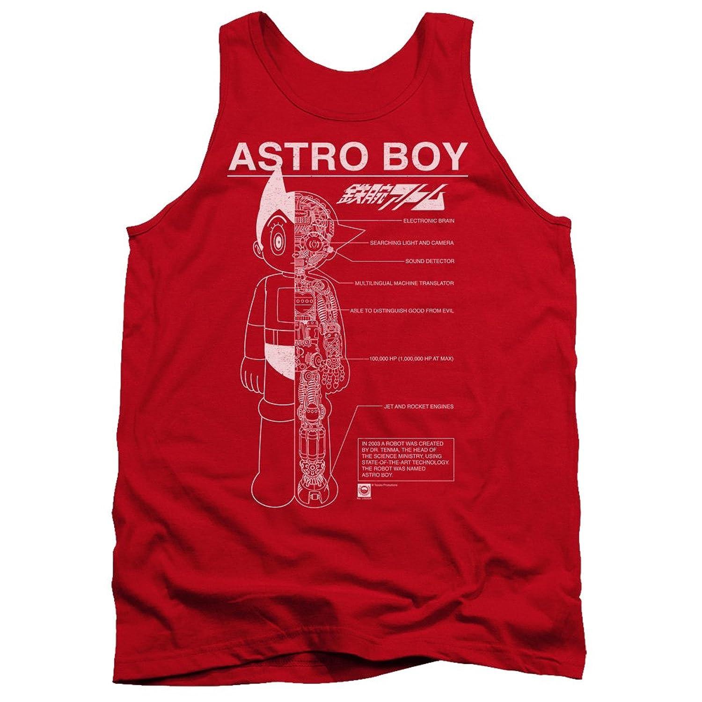 Astro Boy Men's Schematics Tank Top