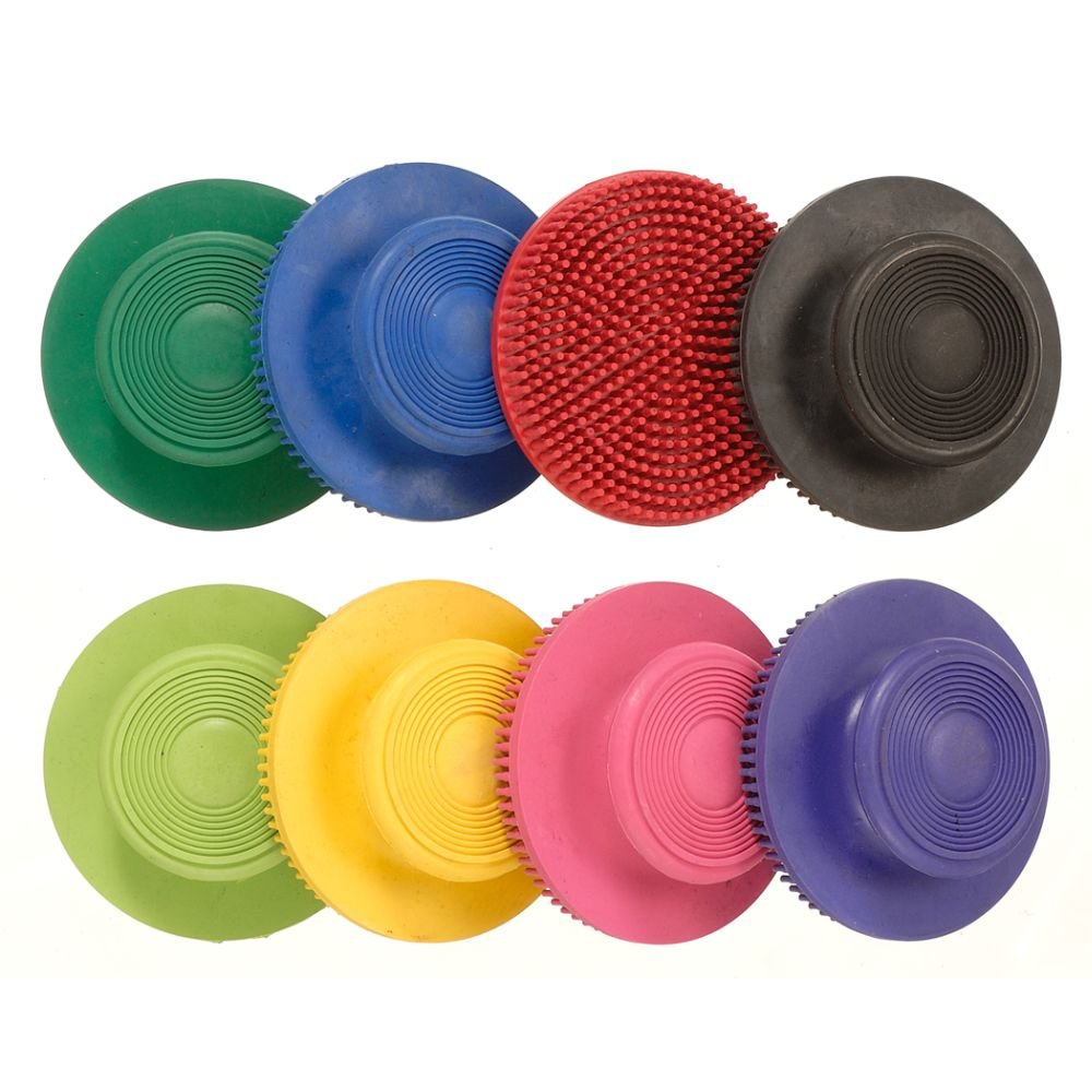 Tough-1 Soft Rubber Face Curry - 6 Pack - Assorted