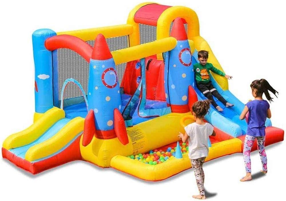 YANGSANJIN Piscinas Infantiles para niños Castillo de Rebote Inflable con trampolín y tobogán de Bolas Casa Piscina de Agua Centro de Actividades Soplador de Aire de 450 W Interior/Exterior Pl: Amazon.es: Deportes