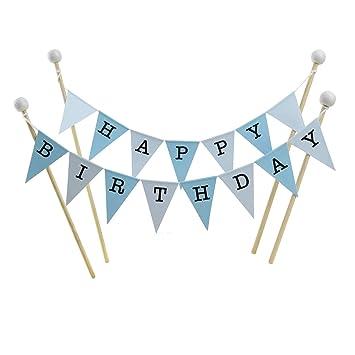 Amazing Buntings Geburtstagskuchen Dekoration Blau Pastell Grosse