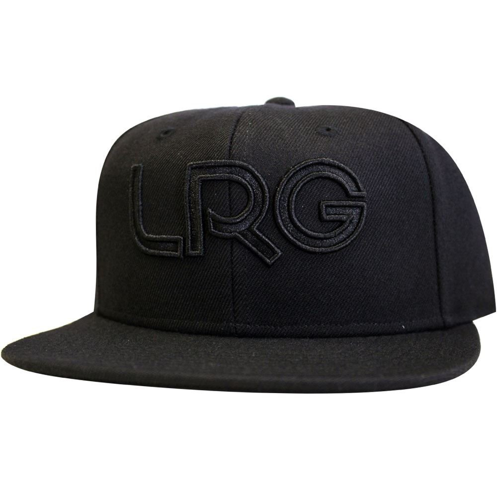 6d1f51122f2 Amazon.com  LRG Snapback Hat Black Black  Clothing