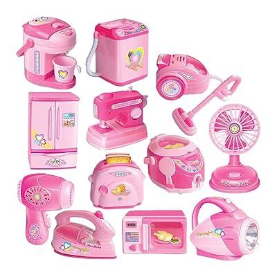 B Blesiya 12 Pedazos Juguetes para Electrodomésticos Juguete Divertido Regalo de Cumpleaños Navidad Fiesta para Niños Niñas: Juguetes y juegos