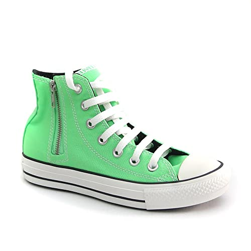Converse Chuck Taylor All Star Side Zip Hi sneakers unisex tessuto verde neon 37