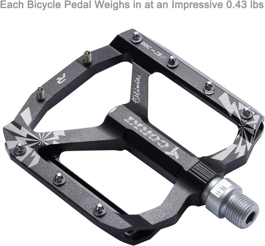 Wide Platform Pedals 9//16 corki Extra Large Mountain Bike Pedals Flat Black Red Purple Aluminum Alloy MTB Pedals
