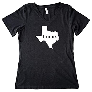 0f80a5dd Homeland Tees Women's Texas Home State V-Neck T-Shirt