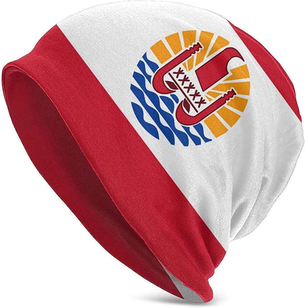 Gorro para Hombres Sombrero de Punto con Bandera de la Polinesia ...