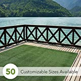how to lay brick patio Indoor/Outdoor Turf  Rugs and Runners in Green 6' X 10' Low Pile Artificial Grass in Many Custom Sizes and Widths with Finished Edges with Binding Tape