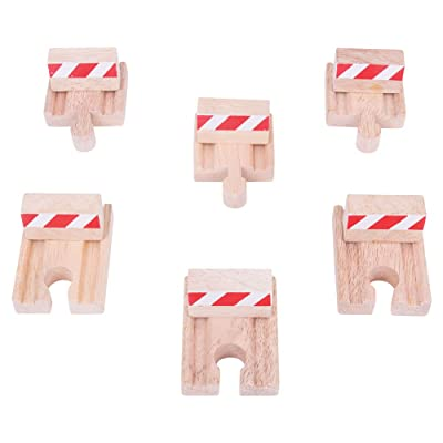 Bigjigs Rail BJT161 Buffers (Pack of 6): Toys & Games