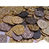 Pirate Treasure Coins - 30 Metal Gold and Silver Doubloon Replicas