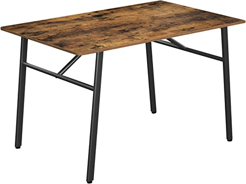 VASAGLE ALINRU Dining Table,Kitchen Table,Sturdy Steel Frame,47.2 x 29.5 x 29.5 Inches,Industrial Style