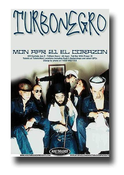 Amazoncom Turbonegro Poster Concert Promo 11 X 17 Inches