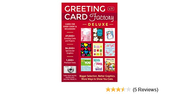 Amazon greeting card factory deluxe 11 download software m4hsunfo