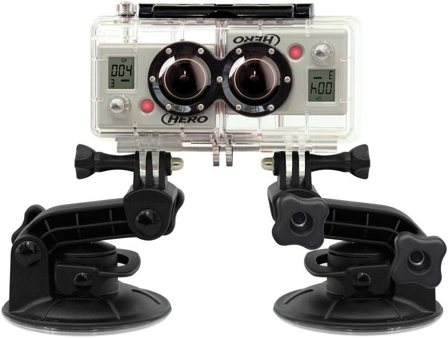 Carcasa 3D, Resistente al Agua, Permite Grabar v/ídeo y Foto en 3D y 2D simult/áneamente GoPro 3D Hero System Accesorio para c/ámaras HERO2 Color Transparente